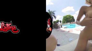 VRLatina.com – Veronica Leal 5k Poolside Fuck VR