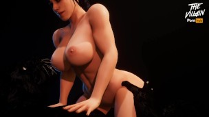 Perfect Curvy Body Babe Fucking with Big Cock Beast   3D Porn